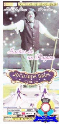 Flyer du Cirque Richards Bros (Richards Bros Circus) (n°1129)