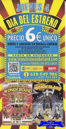 Flyer du Gran Circo Wonderland-2013 (n°1115)
