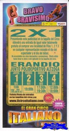 Flyer du El Gran Circo Italiano-2014 (n°1093)