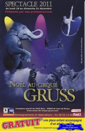 Flyer du Cirque Gruss (Noël au Cirque Gruss)-2011 (n°1236)