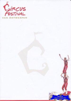 Feuille a4 du Festival du Cirque de Antwerpen