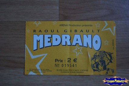 Ticket du Cirque Médrano