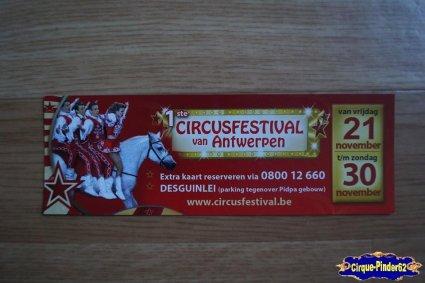 Bon de réduction du Festival du Cirque de Antwerpen-2014