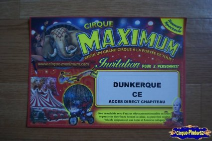 Ticket du Cirque Maximum