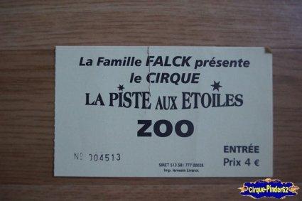 Ticket du Cirque La Piste aux Etoiles