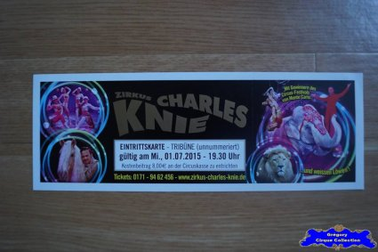 Ticket du Cirque Knie (Charles)-2015