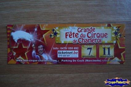 Bon de réduction de La Grande Fête du Cirque de Charleroi-2013