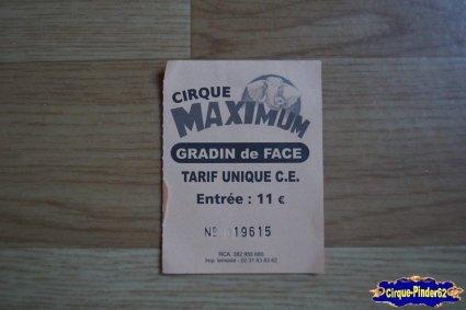 Ticket du Cirque Maximum