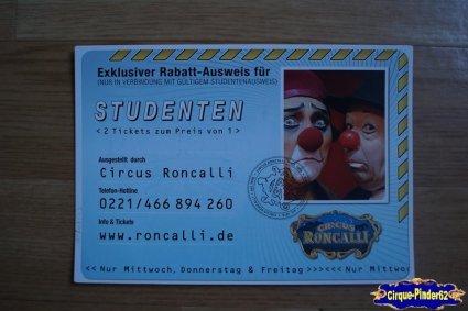 Bon de réduction du Cirque Roncalli (Circus Roncalli)