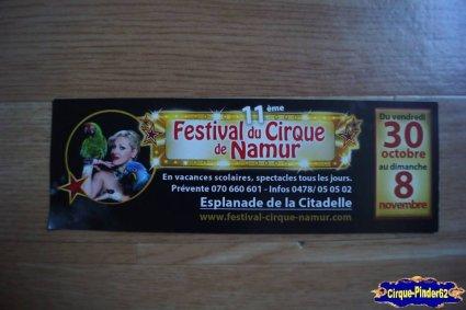 Bon de réduction du Festival du Cirque de Namur-2015