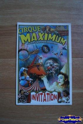 Invitation du Cirque Maximum