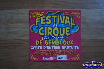 Invitation du Festival du Cirque de Gembloux-2012