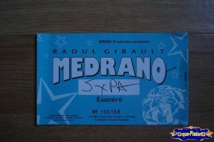 Ticket du Cirque Médrano