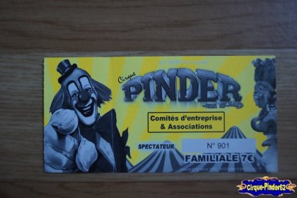 Ticket du Cirque Pinder