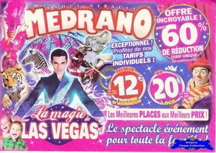 Flyer du Cirque Médrano-2014 (n°1258)