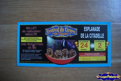 Bon de réduction du Festival du Cirque de Namur