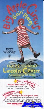 Flyer du Big Apple Circus (n°1277)