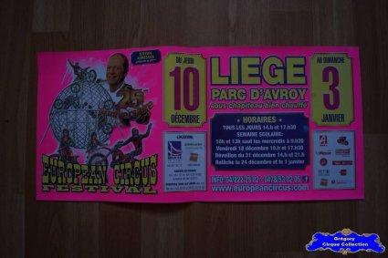 Affiche magasin de l'European Circus Festival-2015/2016 (n°588)