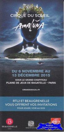Flyer du Cirque du Soleil-2015/2016 (n°1266)