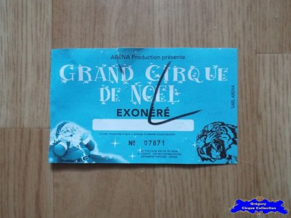Ticket du Cirque de Noël (Grand Cirque de Noël)