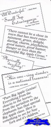 Flyer du Big Apple Circus-1992 (n°1278)