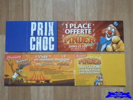 Publicité du Cirque Pinder