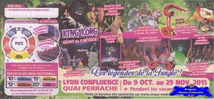 Flyer du Cirque Médrano-2015 (n°1257)