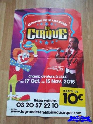 Affiche magasin de La Grande Fête Lilloise du Cirque-2015 (n°573)