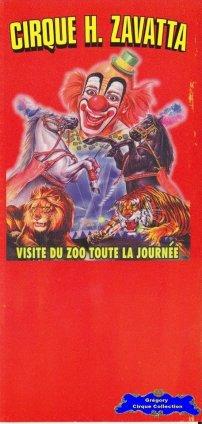 Flyer du Cirque Zavatta (Henri) (n°1251)