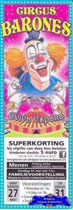 Flyer du Circus Barones-2015 (n°1254)