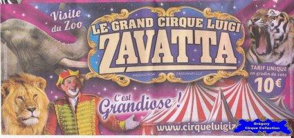Flyer du Cirque Zavatta (Luigi)-2016 (n°1274)