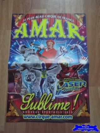 Affiche magasin du Cirque Amar-2015 (n°578)