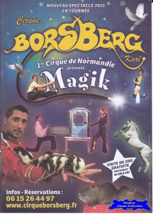 Flyer du Cirque Borsberg (Karl)-2015 (n°1252)