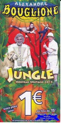 Flyer du Cirque Bouglione (Alexandre)-2015 (n°1283)