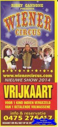 Flyer du Wiener Circus-2014 (n°1281)