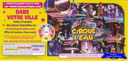 Flyer du Grand Cirque sur l'Eau-2014 (n°1263)
