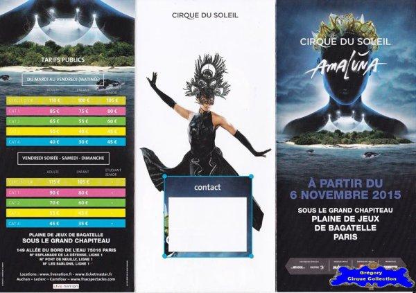 Flyer du Cirque du Soleil-2015/2016 (n°1265)