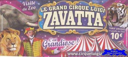Flyer du Cirque Zavatta (Luigi)-2016 (n°1286)