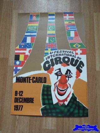 Affiche magasin du Festival International du Cirque de Monte-Carlo-1977 (n°596)
