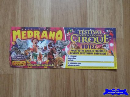 Bulletin de vote du Cirque Médrano