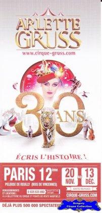 Flyer du Cirque Gruss (Arlette)-2015 (n°1300)