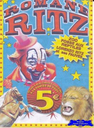 Flyer du Cirque Ritz (Romane) (n°1290)