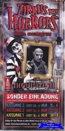 Flyer du Zirkus des Horrors-2015 (n°1318)
