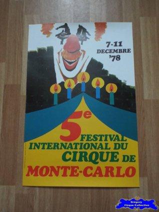 Affiche magasin du Festival International du Cirque de Monte-Carlo-1978 (n°597)