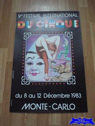 Affiche magasin du Festival International du Cirque de Monte-Carlo-1983 (n°598)