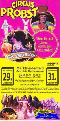 Flyer du Cirque Probst (Circus Probst)-2015 (n°1320)