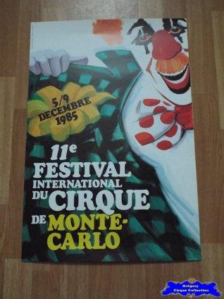 Affiche magasin du Festival International du Cirque de Monte-Carlo-1985 (n°599)