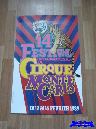 Affiche magasin du Festival International du Cirque de Monte-Carlo-1989 (n°601)
