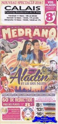 Flyer du Cirque Médrano-2016 (n°1297)