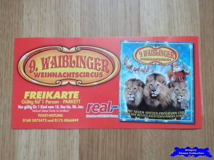 Invitation du Cirque de Noël (Waiblinger Weihnachtscircus)-2015/2016